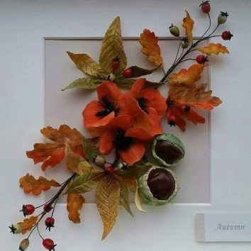 Horse Chestnut, Wild Poppies, Berries, Oak leaves, Conkers