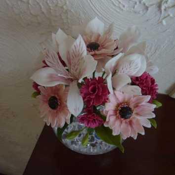 Gerbera. Alstromeria. Carnations