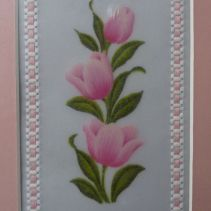 Tulips, embossed